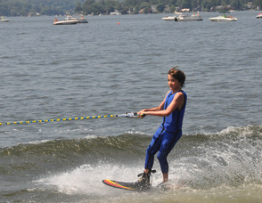 Lake Mohawk Ski Hawk Show.