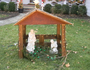 The Nugent's nativity scene