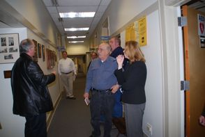 Meeting in the Hallway