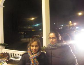 People attending the menorah lighting