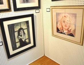 Portraits, including Marilyn Monroe, by Denise M. Cohen.