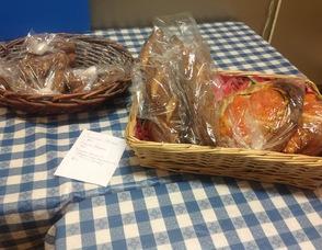 Cinnamon Sticks, and a tomato foccacia bread, from Pittenger Farms.