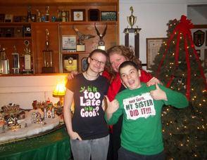 Erin Braun, center, with children, Christina, age 21, and Alex, age 12.