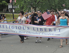 Lady of the Lake parishioners march for Religious Liberty.