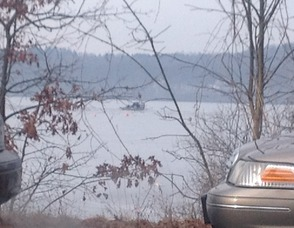 New Jersey State Police Airboat search for the remaining teen in Budd Lake.
