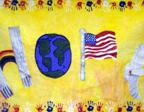 "The ""HOPE"" Mural."