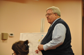 Dave Simmons, town engineer, discusses the property.