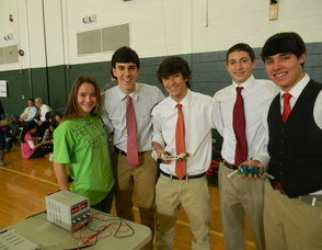 Jake Block and his team from East Hanover High School