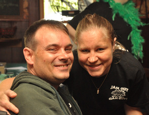 Scott Harris with girlfriend Kathi Unangst.