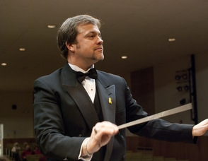 Kurt Zimmermann, associate conductor of the Hanover Wind Symphony