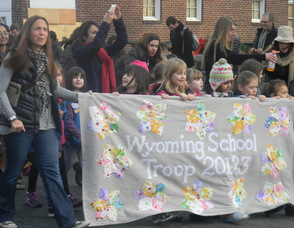 The Wyoming School Girl Scout Troop