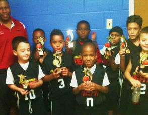 The Third Grade Team of Hilltoppers Heat win the Bergen County Holiday Tournament
