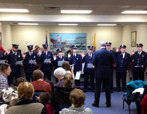 Fire Department Officials Take the Oath of Office
