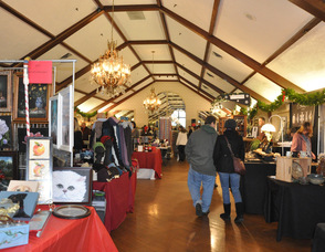 Vendors in the Lake Mohawk Country Club Ballroom.