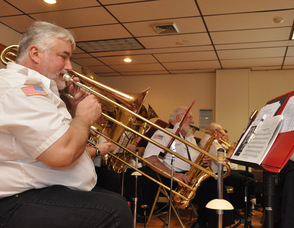 The Franklin Band playing at the event.
