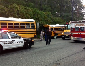 Police, Emergency and school officials on the Scene