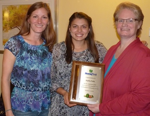 Sophia Palia Recognized by Homefirst