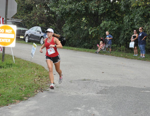 Melissa Fagersten of Sparta came in second for the women in the 5K.