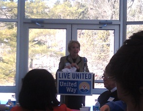 Mary Emilius of the United Way of Northern New Jersey.