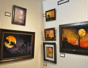 """Spooky Moon Art,"" by Denise M. Cohen."