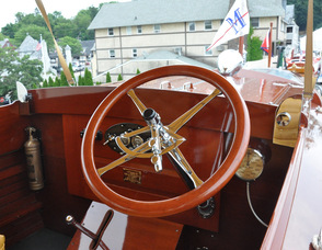 "The steering wheel for ""Golden Years""."