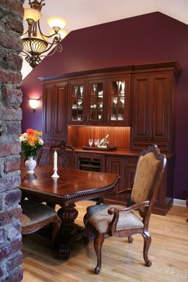A sample dining room