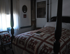 The small bedroom where Sarah (Dodge) Cooper gave birth to their 10 children.
