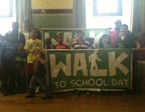 Walk To School Day at Pleasantdale