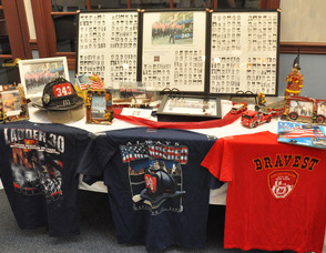 Items on display at Valley National Bank in Hackettstown.