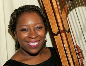 Robbin Gordon-Cartier, director of the Cicely L. Tyson School of Performing and Fine Arts Harp Ensemble