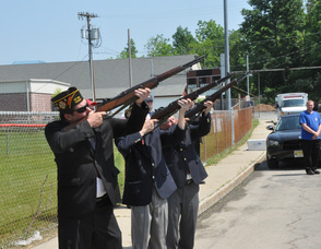 A gun salute to remember those who were lost.