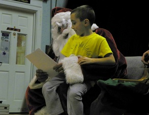 Kids Read Santa their Christmas Lists