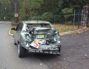Nissan Altima involved in accident
