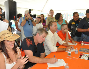 The panel of judges during the contest.