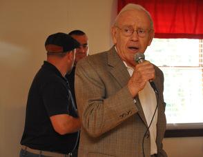 Don Kovach presents the award.