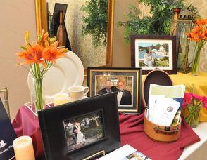 An array of items at the Lake Mohawk Country Club booth.