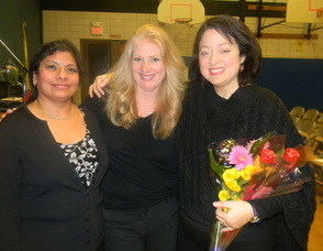 The Theater Week co-chairs Namrita Grover, Kimberly Jonny and Diana Gittardi