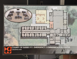 The conceptual plan for the new 911 center.