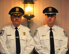 Andover Township Police Chief, Gil Taglialatela, and Lieutenant Eric Danielson