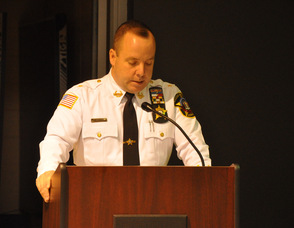 Sheriff Michael Strada addresses attendees.