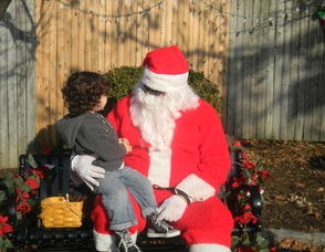 Cole Lesser with Santa