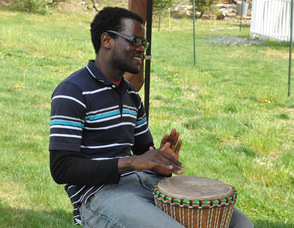 Bamba Diop plays the African Drum.
