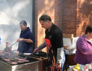 Mayor Bob Conley grilling