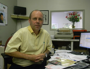 Owner of the Minuteman Press in Livingston, Paul Ewing