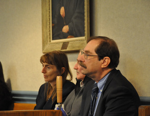 Michael Stabile with his attorneys.