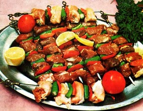 Various Shish Kebabs a Turkish Specialty