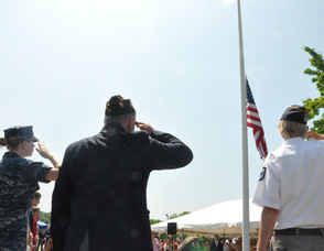 "A salute to the flag during ""Taps""."