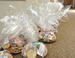 Cookie trays line one of the Karen Ann Quinlan Hospice Offices hallways.