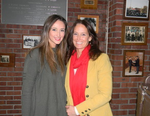 Carolyn George with her daughter who helped set up the event