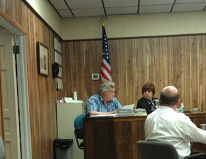 Councilman George Graham during the discussion about the fuel tank system.